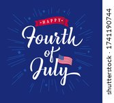fourth of july vector hand... | Shutterstock .eps vector #1741190744
