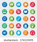 modern media design elements.... | Shutterstock . vector #174119495