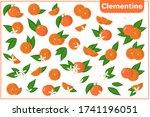 set of vector cartoon... | Shutterstock .eps vector #1741196051