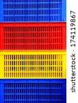 three primary colour plastic... | Shutterstock . vector #174119867