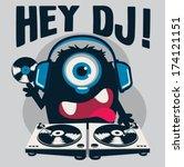 monster dj | Shutterstock .eps vector #174121151