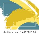 horizontal border with paint... | Shutterstock .eps vector #1741232144