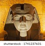 Large Statue Head Of Ramses Ii...