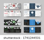 vector tri fold template of... | Shutterstock .eps vector #1741244531