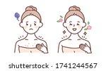 skin care  beauty concept...   Shutterstock .eps vector #1741244567
