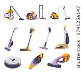 collection of vacuum cleaners... | Shutterstock .eps vector #1741256147