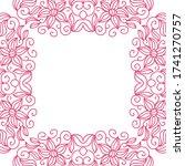 decorative floral frame. vector ... | Shutterstock .eps vector #1741270757