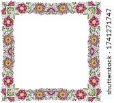 decorative floral frame. vector ... | Shutterstock .eps vector #1741271747