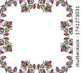 decorative floral frame. vector ... | Shutterstock .eps vector #1741273031