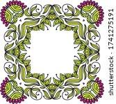 decorative floral frame. vector ... | Shutterstock .eps vector #1741275191