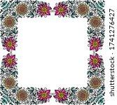 decorative floral frame. vector ... | Shutterstock .eps vector #1741276427