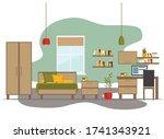children's room with furniture  ...   Shutterstock .eps vector #1741343921