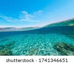 Split Underwater View Of...