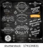 vector set of calligraphic... | Shutterstock .eps vector #174134831