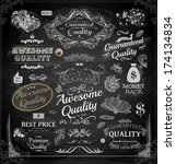 vector set of calligraphic... | Shutterstock .eps vector #174134834