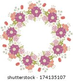 cute floral frame.  perfect for ... | Shutterstock .eps vector #174135107