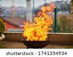A Big Fire Flashover A Black...