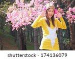 portrait of beautiful thai... | Shutterstock . vector #174136079