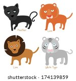illustrated lion collection | Shutterstock .eps vector #174139859