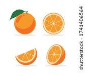 vector illustration of orange...   Shutterstock .eps vector #1741406564