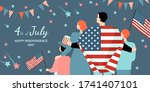 happy fourth of july. america... | Shutterstock .eps vector #1741407101
