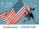 happy fourth of july. america... | Shutterstock .eps vector #1741407104