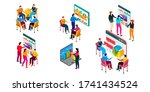 business people in different... | Shutterstock .eps vector #1741434524