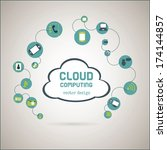 cloud computing over  gray... | Shutterstock .eps vector #174144857