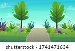 walk along the road in the park.... | Shutterstock .eps vector #1741471634
