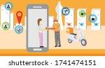 2d vector illustration flat ... | Shutterstock .eps vector #1741474151