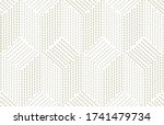 wavy lines rice seeds tribal... | Shutterstock .eps vector #1741479734