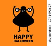 happy halloween. monster black...   Shutterstock .eps vector #1741493627