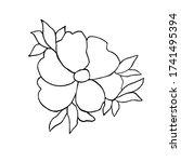 flower hand drawn illustration  ... | Shutterstock .eps vector #1741495394