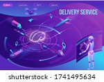 isometric delivery service with ...