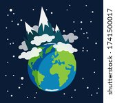 earth planet earth globe with... | Shutterstock .eps vector #1741500017