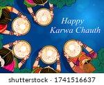 vector design of indian woman... | Shutterstock .eps vector #1741516637