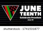 juneteenth freedom day. african ... | Shutterstock .eps vector #1741531877