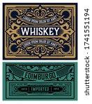 old  label design for whiskey...   Shutterstock .eps vector #1741551194