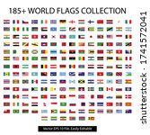 world flag collection with... | Shutterstock .eps vector #1741572041