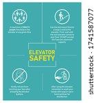 safety guidelines for elevator... | Shutterstock .eps vector #1741587077