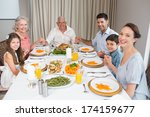 portrait of an extended family... | Shutterstock . vector #174159677