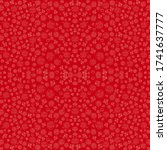 red rose pattern  wallpaper ... | Shutterstock .eps vector #1741637777