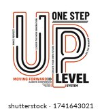 one step up level stylish... | Shutterstock .eps vector #1741643021