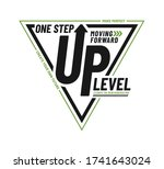 one step up level stylish... | Shutterstock .eps vector #1741643024