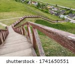 Lithuania  Wooden Stairs To Th...