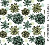seamless vector pattern with... | Shutterstock .eps vector #1741651817