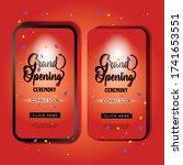 red grand opening mobile... | Shutterstock .eps vector #1741653551