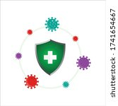 healthy protection system ... | Shutterstock .eps vector #1741654667