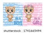 baby shower greeting card with... | Shutterstock .eps vector #1741665494