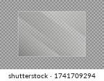set of transparent shiny glass... | Shutterstock .eps vector #1741709294